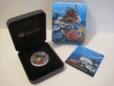 2010 AUSTRALIAN SEA LIFE THE REEF: LIONFISH 1/2 oz SILVER PROOF COIN