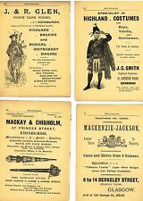 "Johnston's ""Scottish Clans"" - 4 ADS -  ""MACAY & CHISHOLM JEWELLERS""  - c1890"