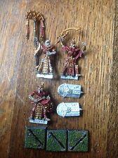 Warhammer. Tomb Kings. Tomb Guard Command. Champion, Standard, Musician. Metal.