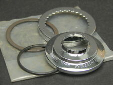 Vintage NOS Shimano Bicycle FF System Double Crank Chrome Cap Snap Ring & Spacer