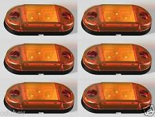 6x Orange 12V 24V Side Marker Lights Truck Trailer Caravan for Scania DAF Iveco