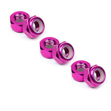 6 X RC Car 4mm Aluminium Locking Wheel Nuts 1/10 1/16 Tamiya Ansmann HPI Traxxas