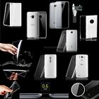 For Various Phones Slim Thin Transparent Crystal Clear Soft TPU Case Skin Cover
