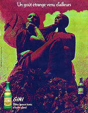 PUBLICITE ADVERTISING  1971    GINI   soda