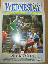 SHEFFIELD WEDNESDAY v STOKE CITY 1987-88 SIMOD CUP