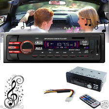 Bluetooth Car Stereo Player Audio 1 DIN In-Dash FM Aux SD USB MP3 Radio Remote