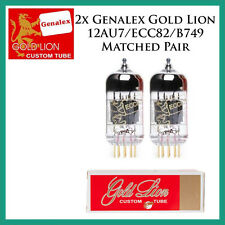 New 2x Genalex Gold Lion 12AU7 / ECC82 | Matched Pair / Duet / Two Tubes