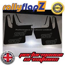 SUBARU IMPREZA Classic (93-01)GC8 Mudflaps 4mm PVC Black STI Style Logo Matt Blk