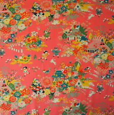 [Precut] 54x110cm Play Time Pink Japanese Cotton Print Fabric Remnant - PC763