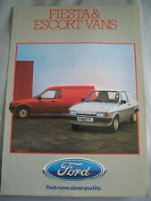 Ford Fiesta & Escort Vans brochure Oct 1984