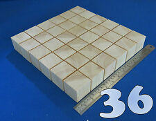 "LOT x 36 CUBES 1.7""/ 45 mm WOODEN BLOCKS BUNDLE SET PINE WOOD NATURAL ECO BRICKS"