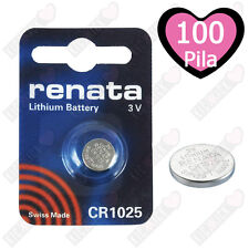Renata Swiss Made Lithium CR1025 Cell Coin Button Battery 3V Watch On Sale x 100