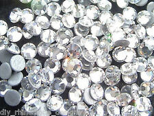 1440 Iron-On Hot Fix Flatback Machine Cut Glass Rhinestones Beads 16ss 4mm Clear