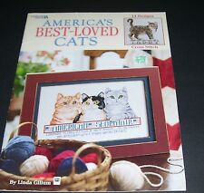 LEISURE ARTS COUNTED CROSS STITCH LEAFLET PATTERN BOOK 2002 BEST LOVED CATS 3321