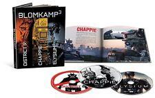 DISTRICT 9 + CHAPPIE + ELYSIUM (3 Blu-ray Discs, Digibook) NEU+OVP