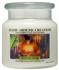 Premium 100% Soy Apothecary Candle - 16 oz Double Wicked- Witches Brew