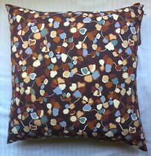"""New MISSONI HOME 24x24"""" ACTION COLLECTION MAGGIE PILLOW /Cushion Blue/Brown"""