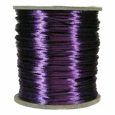 CADBURY PURPLE SATIN RATTAIL CORD - 5metres x 3mm - WEDDING FAVOURS, INVITATIONS