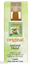clean + easy SMALL Wax Refill Original Natural Blend 3 Count Pack  41633