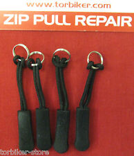 4 x ZIPPER ZIP TAG PULLER REPAIR FIX MEND BELSTAFF AKITO REV'IT KLIM SALMI IXS