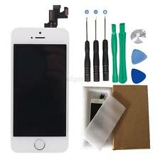 Replace Touch Digitizer LCD Screen Home Button Front Camera for White iPhone 5S