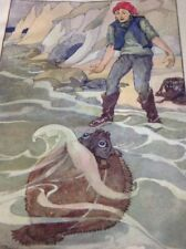 Ephemera 1935 Book Plate Anne Anderson The Fisherman And His Wife M481