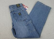 NEW Woman's Lucky Brand Workwear Carpenter Style Blue Denim Jeans NWT 10