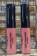 2 x LAURA GELLER LIP GLOSS COLOR DRENCHED in Cafe Au Lait .18 oz each