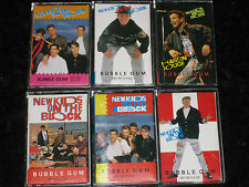 lot of 6 New Kids on the Block 1990 Topps Bubble Gum Candy Cassettes NKOTB