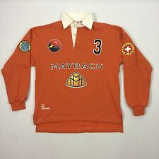 St.Moritz Polo Club Maybach Swiss Rugby Shirt Polo Association Orange