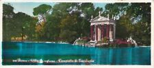 * ROMA - Cartolina lunga - Villa Borghese, Tempietto di Esculapio 1963