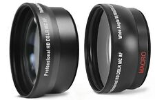 2-PC LENS SET PRO HD WIDE ANGLE & TELEPHOTO LENS for SONY SLT-A57K SLT-A57