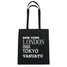 New York, London, Parigi, Tokyo VANUATU - Borsa Di Iuta Borsa - Colore: nero
