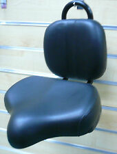 Bicycle Bike Seat W/ Back Rest Beach Cruiser Lowrider BMX Chopper Black