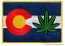 COLORADO LEGAL MARIJUANA STATE FLAG PATCH embroidered iron-on LEGALIZE EMBLEM