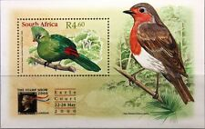 Rsa Sudáfrica South Africa 2000 bloque 80 the Stamp show london birds pájaros mnh