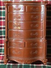 Vntg Reliable Brown High boy Dollhouse Furniture Canada~SAME SCALE RENWAL IDEAL