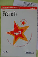 SQA past papers Higher French 2004-8. With answer booklet.