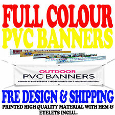 6ft x 2ft PERSONALISED OUTDOOR PRINTED PVC BUSINESS BANNERS  VINYL ADVERTISING