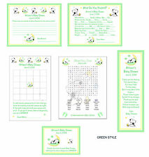 Baby Snoopy Peanuts Baby Shower Games & Favors Pack #3
