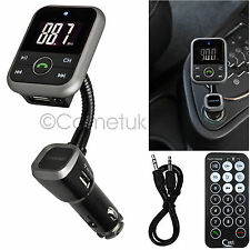 In Car LCD Bluetooth FM Transmitter MP3 Player SD 32GB USB Port Hands free Kit