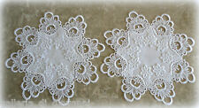 """Doily Lace 12""""  Set of 2  DECADENT WHITE"""