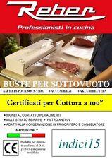 Buste Sacchetti Goffrati 100pz 12x20 3 strati Accessori Sottovuoto ® Reber