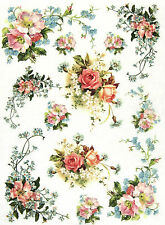 Papel De Arroz Para Decoupage Decopatch Scrapbook Craft Hoja Vintage Petit Bouquet