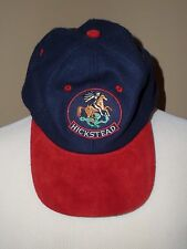 Vintage Hickstead Breyer blue/red adjustable wool baseball hat cap, one size