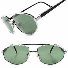 Deadstock True Vintage Stylish Green Lens Silver Mens 80s 90s Classic Sunglasses