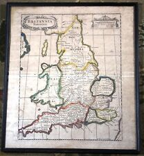 Britannia Saxonica Robert Morden Vintage Original Antique Map London 1695 Rare