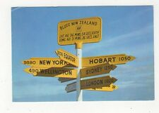 Bluff Signpost New Zealand Postcard 901a
