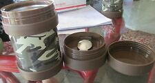 Pottery Barn Kids brown Camo food Container w/spoon New