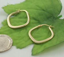 Sassi AR012Y Ladies 375 9ct Yellow Gold Creole Hoop Wedding Band Earrings